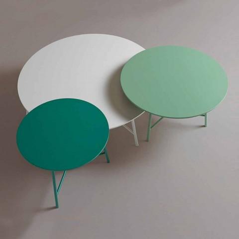Bunter moderner runder Design-Couchtisch für Wohnzimmer - Boogie