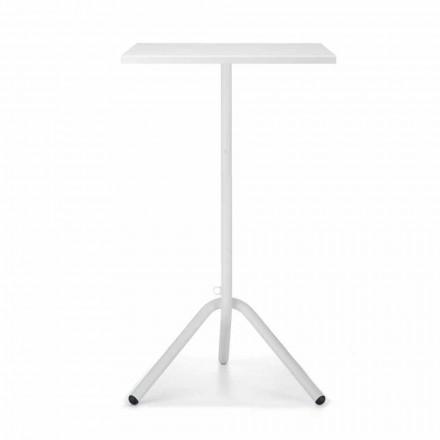 High Square Outdoor Tisch aus Metall und Blech Made in Italy - Archibald