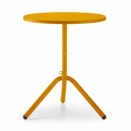 Runder Tisch aus Metall und Blech für den Außenbereich Made in Italy - Alberic