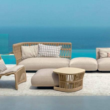 Gartentisch Cliff Talenti Design Palombo leinenfarben und Alluminium