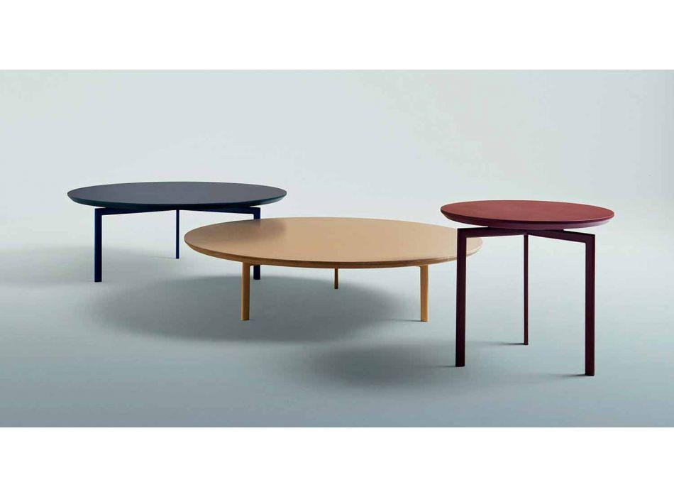 3 Beine Couchtisch aus Stahl und farbigem Holz - Hübsch