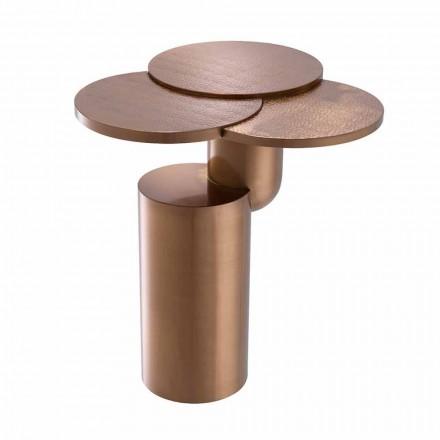 Design Couchtisch aus gebürstetem Kupferstahl - Olbia