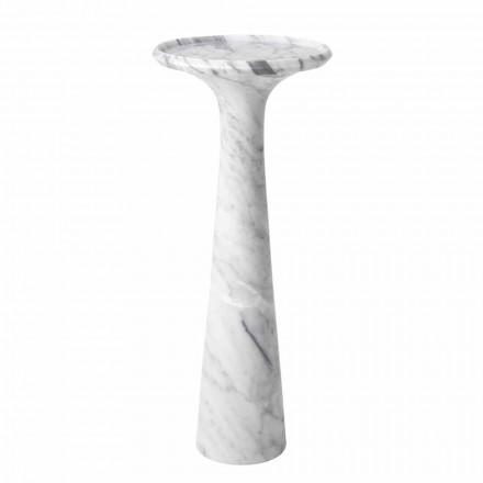 Runder Design-Couchtisch aus weißem Carrara-Marmor - Udine