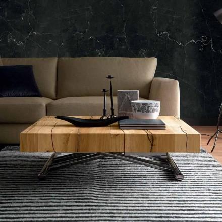 Verwandelnder Couchtisch aus Massivholz Made in Italy - Trabucco
