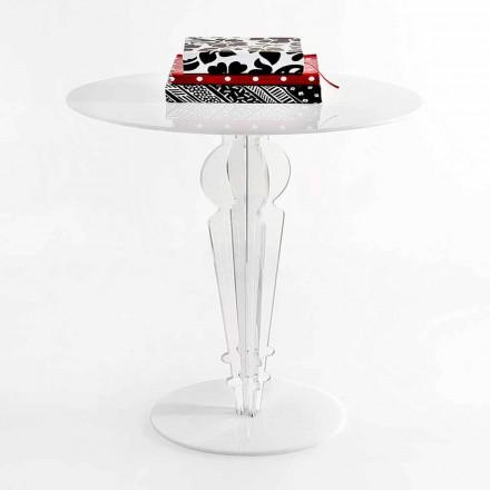 Kleiner Tisch im klassischen Design aus Acrylglas H 64 cm, Cles