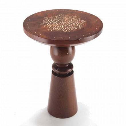 Design Tischchen, Tischplatte aus Messing, Durchmesser 45cm, Sanni