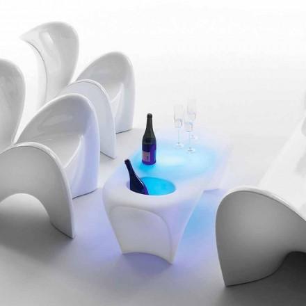 Heller Couchtisch mit Sektflasche, Outdoor- oder Indoor-Design - Lily von Myyour