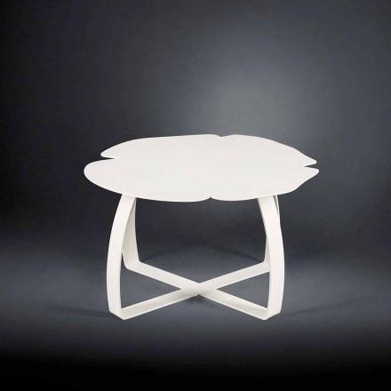 Moderner Couchtischtisch aus Metall Blumenform Andy
