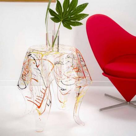 Moderner mehrfarbiger Plexiglas-Couchtisch aus Italien, Otto