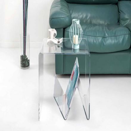 Moderner kleiner Tisch / Zeitungsständer aus Plexiglas, Cavour