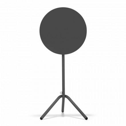 Runder hoher Tisch im Freien aus Metall und Blech Made in Italy - Baldric