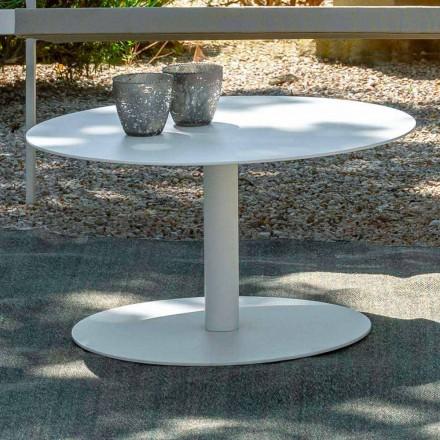 Runder Garten-Couchtisch aus weißem oder anthrazitfarbenem Aluminium - Key von Talenti
