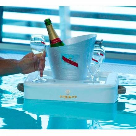 Schwimmender Poolbar aus Kunstleder Trona