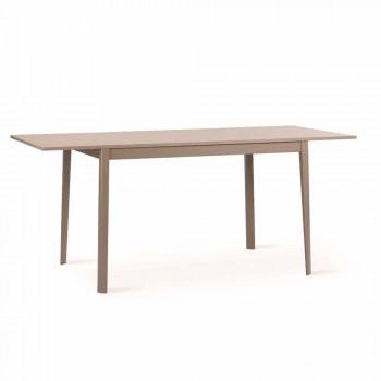 Ausziehbarer Tisch mit Empoli Massivholzbeinen, modernes Design