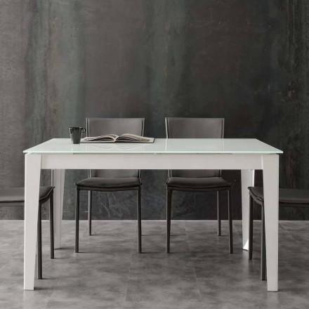 Ausziehbarer Tisch mit Glasplatte in modernem Design Baltimora