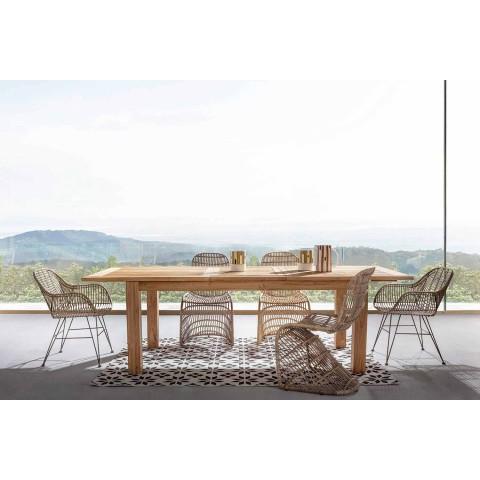 Ausziehbarer hölzerner Gartentisch 8 People Design Homemotion - Gismondo