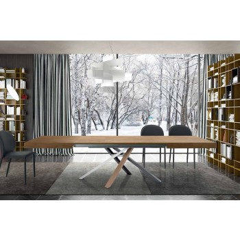 Ausziehbarer Esstisch aus modernem Design Holz bis 3,1 m - Argentario