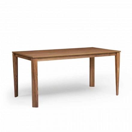 Ausziehbarer Esstisch mit Platte aus Eschenholz, Medicina