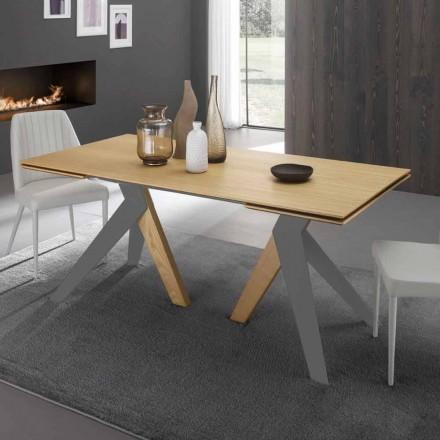 Tavolo allungabile di design con piana in rovere Daryl,fatto in Italia
