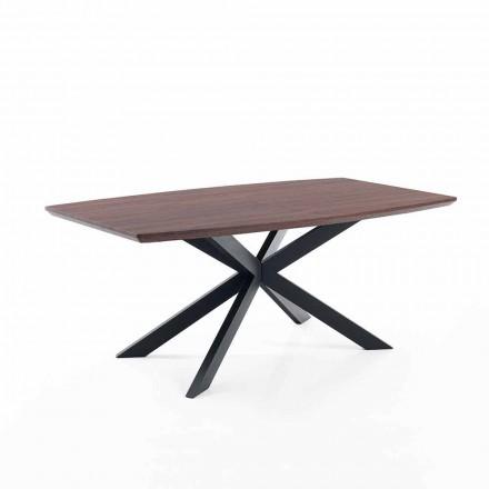 Design ausziehbarer Tisch aus Mdf und Metall - Torquato