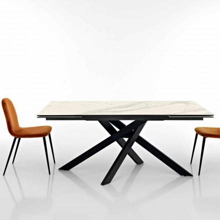 Ausziehbarer Designtisch aus Glaskeramik made in Italy, Dionigi