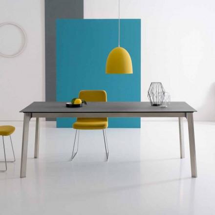 Design ausziehbarer Tisch aus Aluminium, made in Italy - Arnara