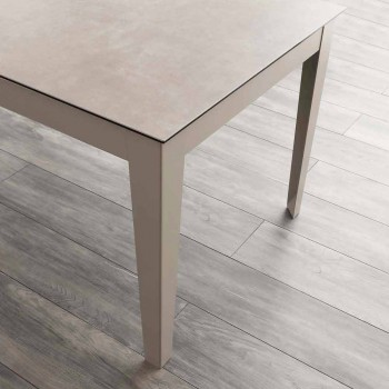Cagliari ausziehbarer Tisch bis 380 cm aus Glaskeramik und Metall
