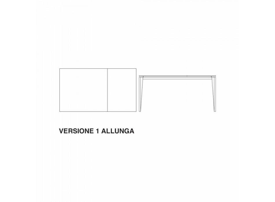 Ausziehbarer Tisch bis 290 cm aus Glaskeramik Made in Italy - Polonio