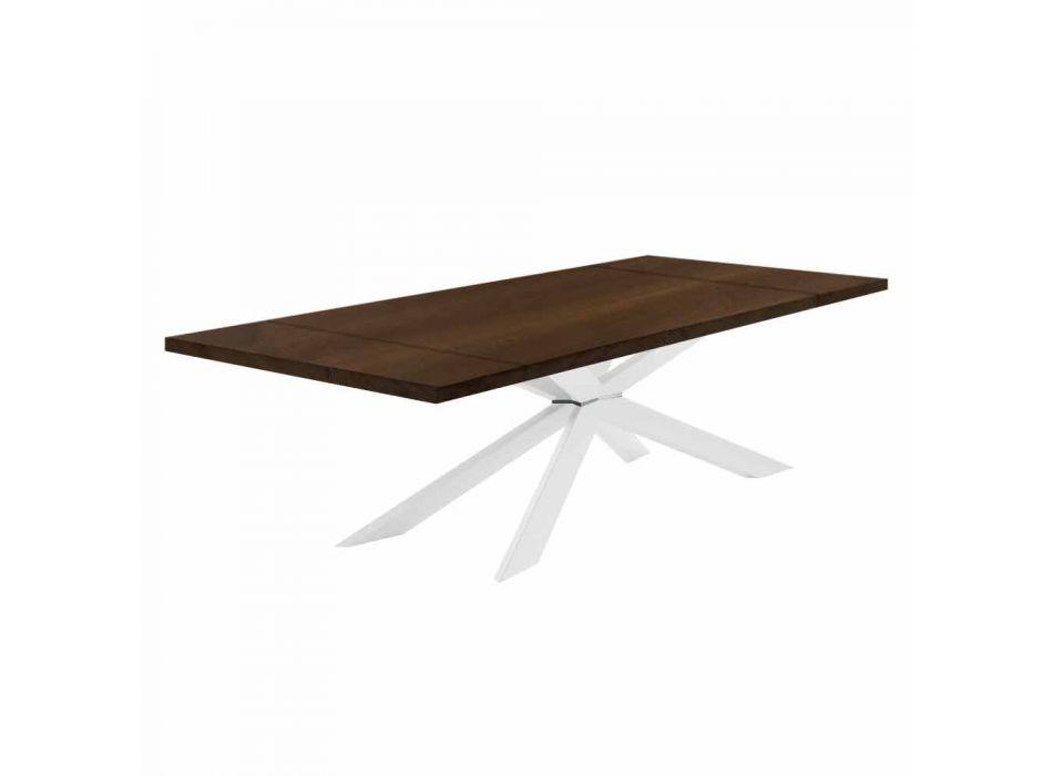 Ausziehbarer Tisch bis 300 cm mit furnierter Platte Made in Italy - Grotta