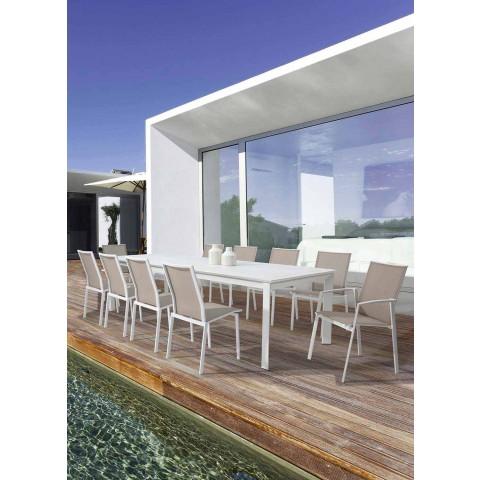 Ausziehbarer Tisch in modernem Aluminiumdesign für Homemotion im Freien - Casper
