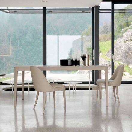 Ausziehbarer Tisch aus grauem natürlichem Nussholz, Design Matis