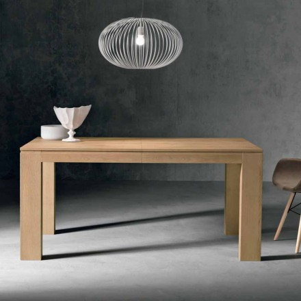 Design ausziehbarer Tisch aus Eichenholz made in Italy, Sondrio