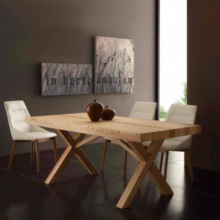 Tisch verlängerbar aus Eschenholz Texas in modernem Design
