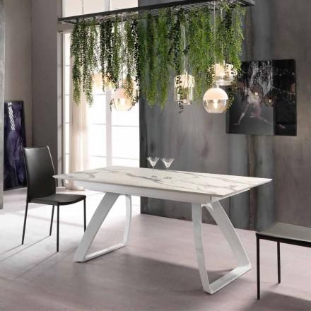 Moderner ausziehbarer Tisch bis 270 cm mit Metallbeinen Villongo