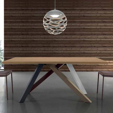 Moderner Esstisch ausziehbar mit Tischplatte aus laminiertem Holz – Settimmio