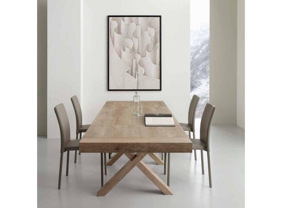 Moderner ausziehbarer Tisch aus Melamin und Mdf Denver