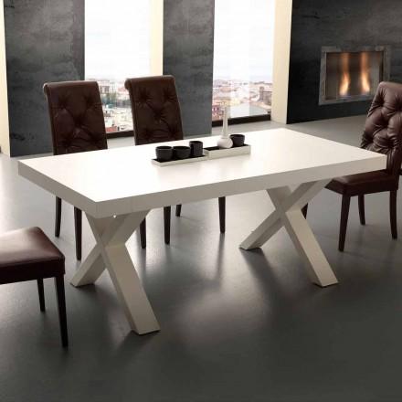 Ausziehbarer Tisch aus MDF und melaminbeschichteten Spanplatten Denver