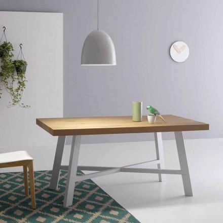 Moderner ausziehbarer Tisch, Oberfläche aus Massivholz - Tricerro