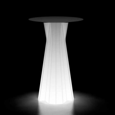 Hochtisch im Freien mit Leuchtbasis und HPL-Platte Made in Italy - Tinuccia