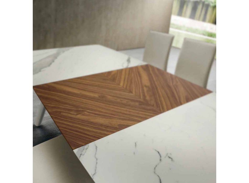 Ausziehbarer Küchentisch bis 210 cm aus Laminam Made in Italy - Giocondo