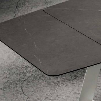 Ausziehbarer Küchentisch Bis zu 280 cm Marmoroptik Made in Italy - Pinocchio