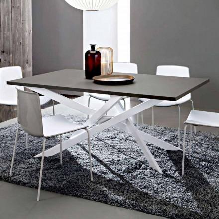 Made in Italy Hochwertiger Fenix- und Weißmetall-Küchentisch - Carlino