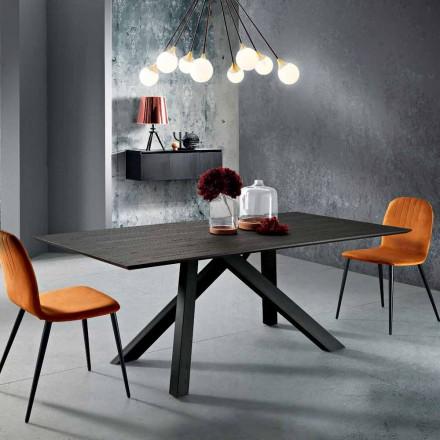 Esstisch aus MDF-Holz und Metall made in Italy, Wilmer
