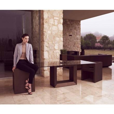Gartentisch Vela 200x100 cm von Vondom, aus Polyethylenharz