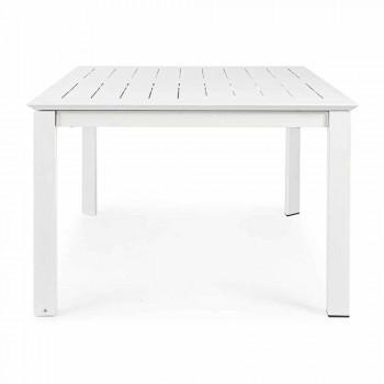 Ausziehbarer Tisch im Freien Bis zu 160 cm in Aluminium Homemotion - Andries