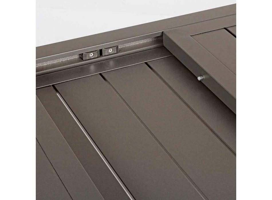 Ausziehbarer Outdoor-Tisch bis 240 cm in Aluminium, Homemotion - Arold