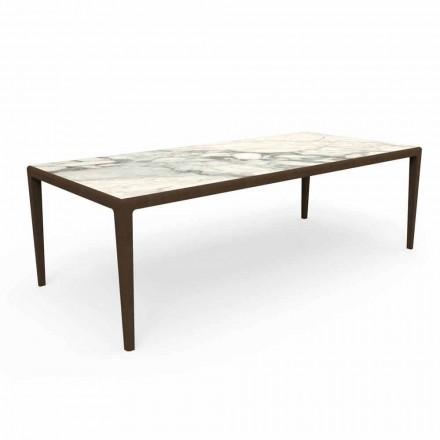 Design Outdoor Tisch aus Teakholz und Capraia Gres - Cruise Teak Talenti