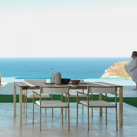 Gartentisch 200 x 100 cm in modernem Design Casilda von Talenti