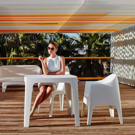 Quadratischer Outdoor-Tisch Solid von Vondom aus Polypropylen, modernes Design