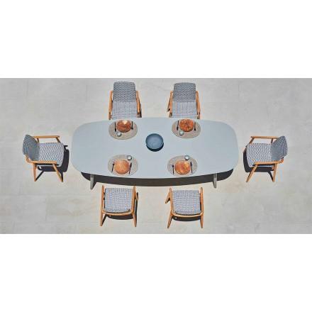 Design Gartentisch aus farbigem Aluminium Varaschin Ellisse